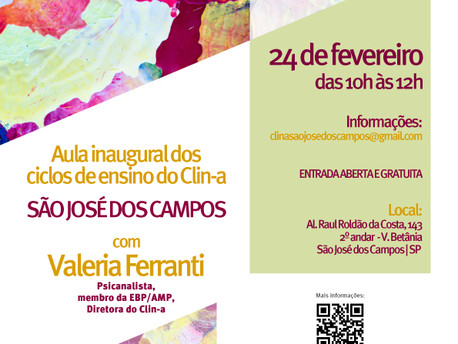 Aula Inaugural dos Ciclos de Ensino do Clin-a - São José dos Campos