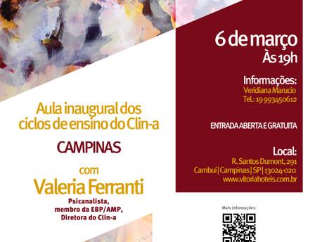 Aula Inaugural dos Ciclos de Ensino do Clin-a Campinas