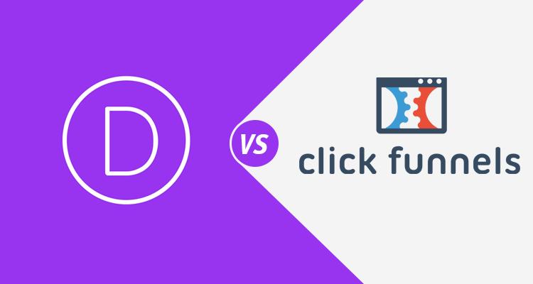 this image shows clickfunnels vs divi