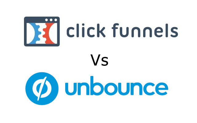 this image shows clickfunnels vs unbounce