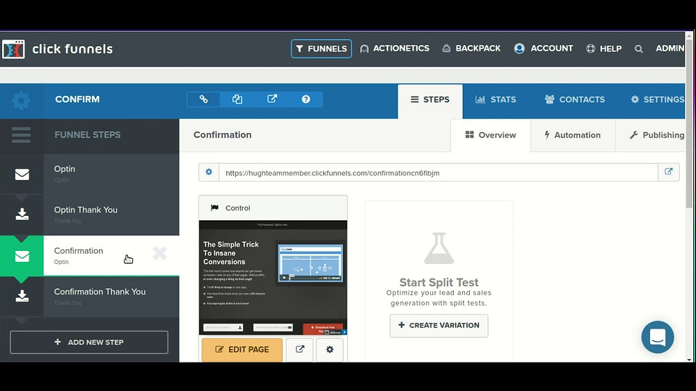this image shows clickfunnels email marketing