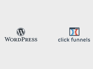 this image shows clickfunnels and wordpress