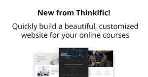 this image shows the thinkific website builder