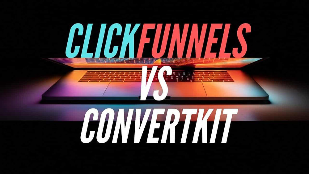 this image shows clickfunnels vs convertkit