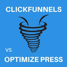 this image shows clickfunnels vs optimizepress