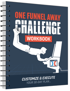 this image shows the one funnel away challenge workbook