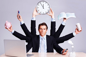 this image shows time in business