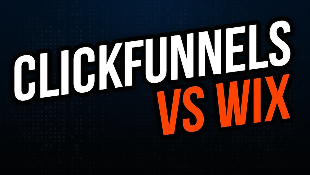 this image shows wix vs clickfunnels