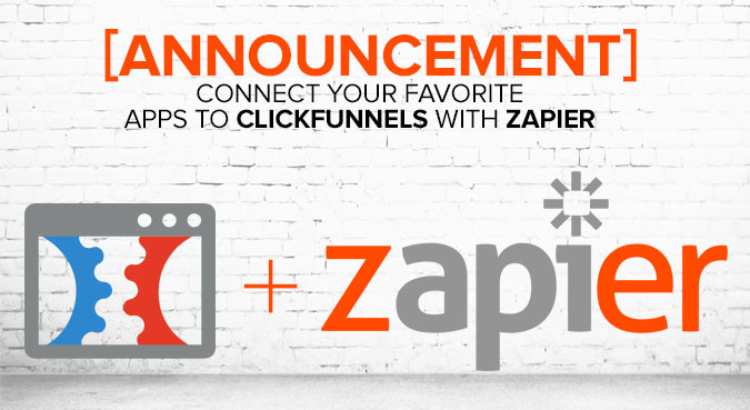 this image shows clickfunnels + zapier