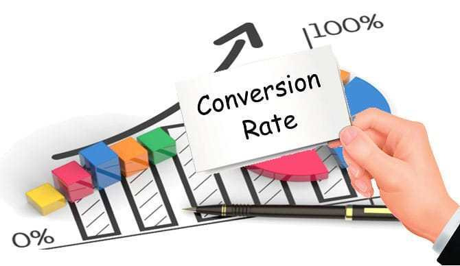 this image shows increasing conversion rate