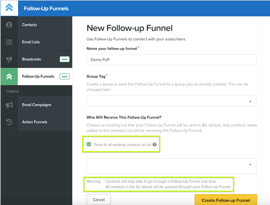 this image shows clickfunnels follow up funnel