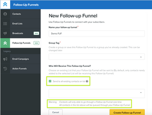 this image shows follow up funnels