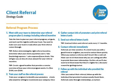 this image shows client referral