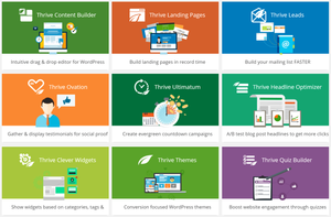 this image shows thrive themes theme selection