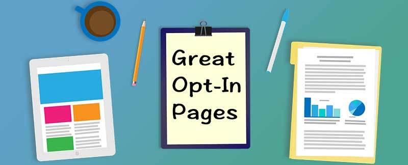 this image shows the perfect opt in page
