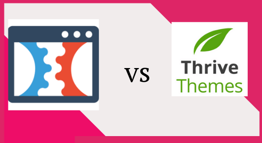 this image shows clickfunnels vs thrive themes