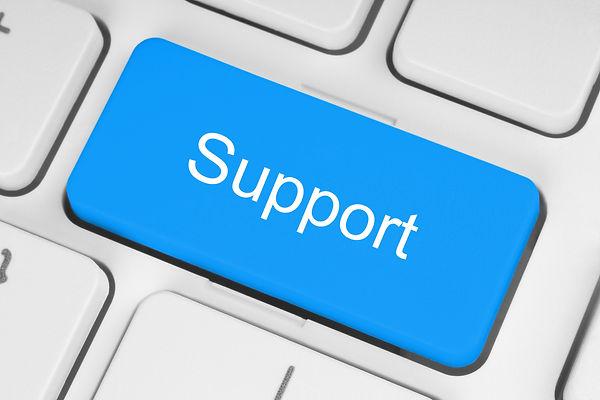 Blue support keyboard button
