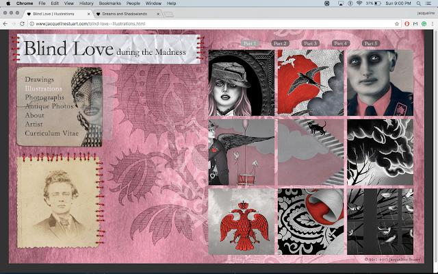 Illustrations page for www.jacquelinestuart.com depicting Blind Love During the Madness | © 2017 Jacqueline Stuart