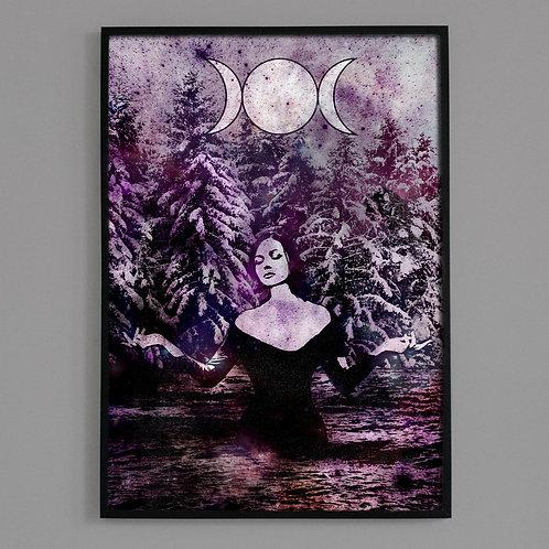 Triple Moon Goddess Fine Art Archival Print