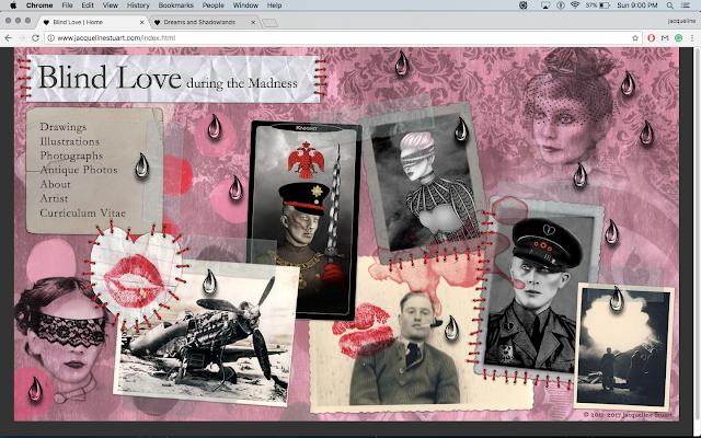 Home page for www.jacquelinestuart.com depicting Blind Love During the Madness | © 2017 Jacqueline Stuart