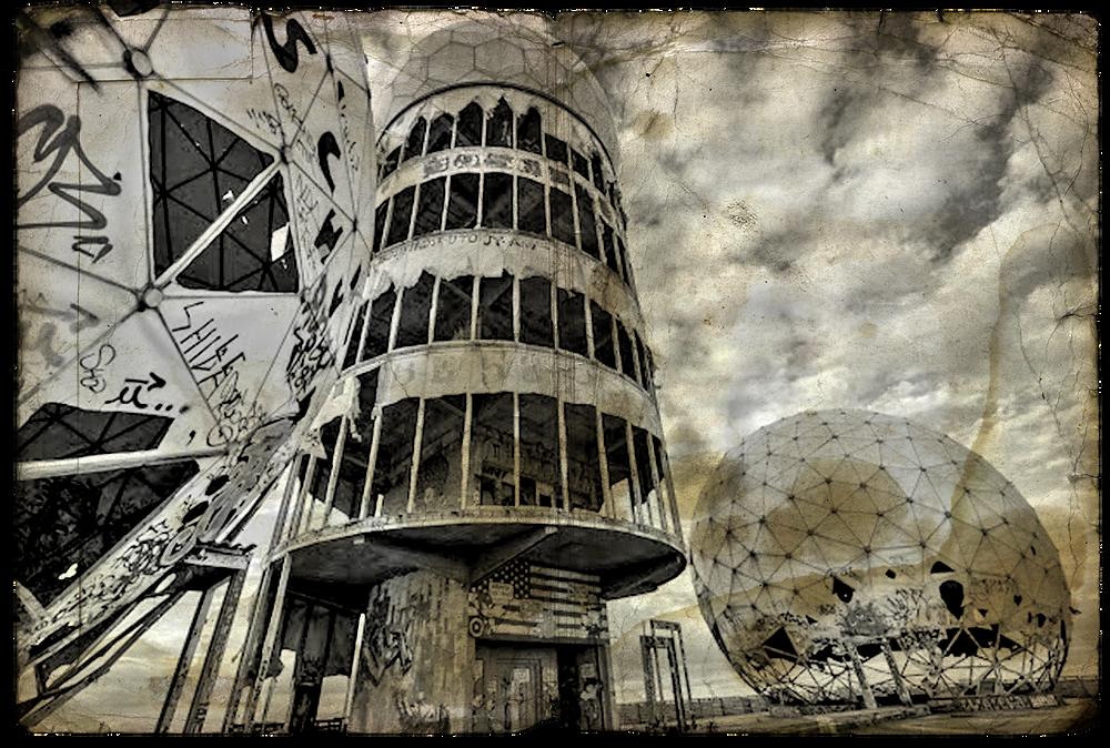 Teufelsberg Abandoned Berlin | Photo digitally altered by Jacqueline Stuart