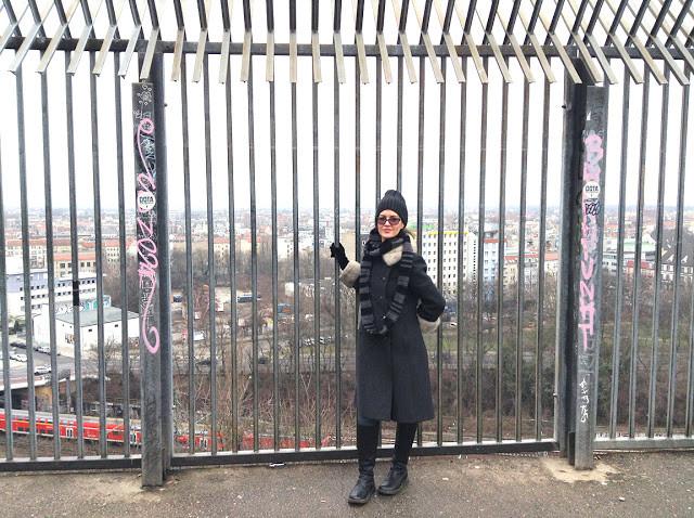 Jacqueline Stuart at the Flak Tower, Berlin Germany | Photo by Michael Stuart