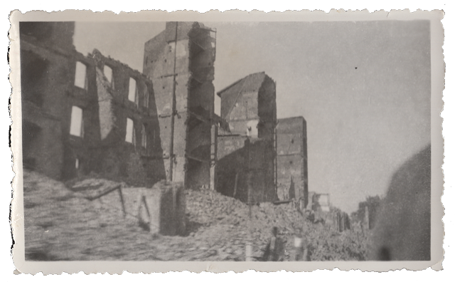 GI photo of a bombed out city in Germany, c. 1945. Stuart Archive.