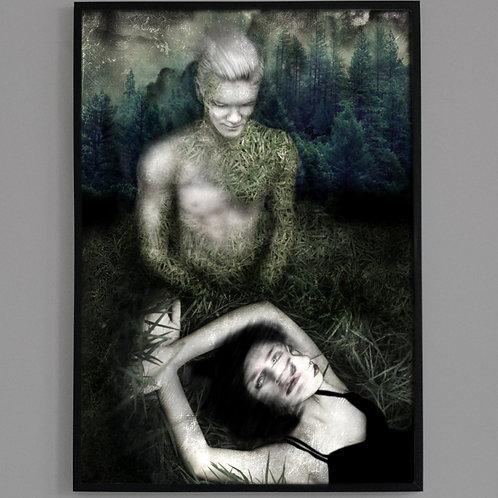 Psyche Awakening, Eros Manifesting   Fine Art Archival Print   Mystical Art