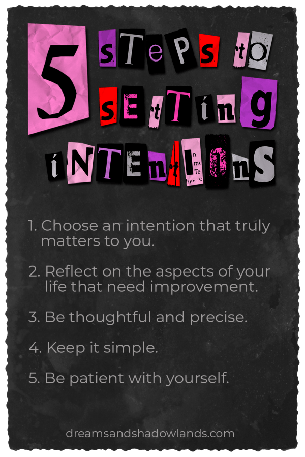 Setting intentions to manifest our dreams