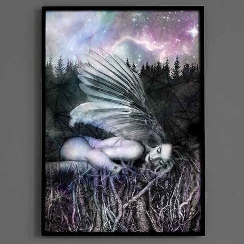Earthing, Gaia, Fine Art Print, Witchcraft Art, Mystical, Visionary Artr