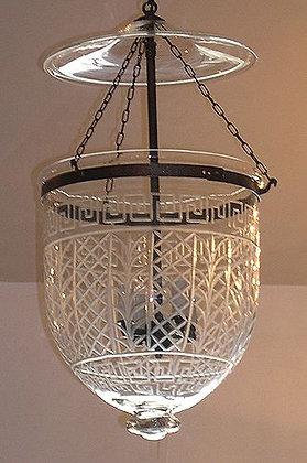 Ornate Greek Key Bell Jar