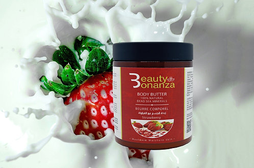 SHEA BODY BUTTER – STRAWBERRY SCENT – WITH DEAD SEA MINERALS