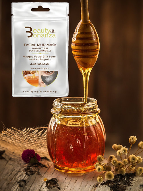 PURIFYING DEAD SEA MUD MASK WITH HONEY, AND PROPOLIS