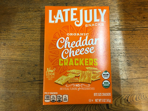 Crackers - Late July-cheddar cheese