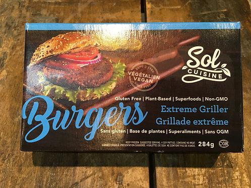 Vegan Burgers- Sol Cuisine Griller/Pkg