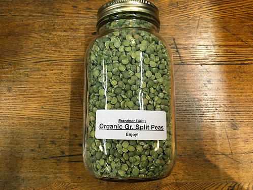 Split Peas Green (dried/1Lt jar)