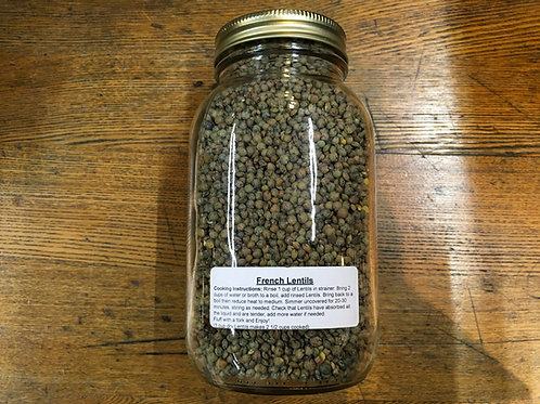 Lentils French Green (dried/1Lt jar)