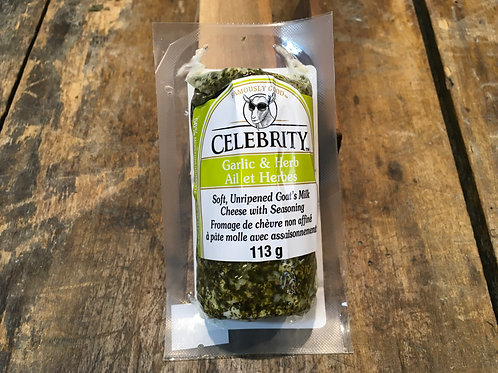 Goat Cheese-garlic herb-Tube - Celebrity