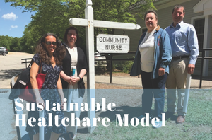 Visitors to Tamworth Community Nurse Association (TCNA), to see how a small, rural healthcare center can work 06/07/2019