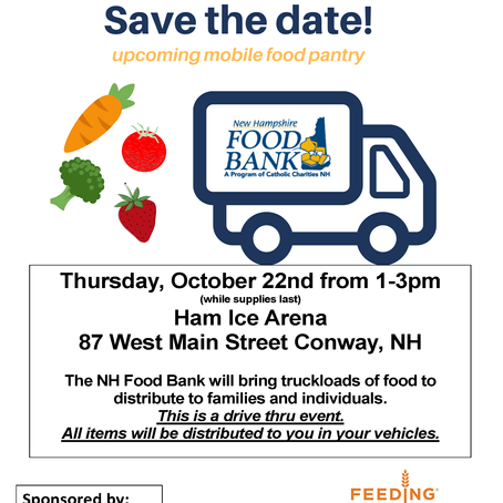 Mobile Food Pantry 10/22/2020, Conway, NH