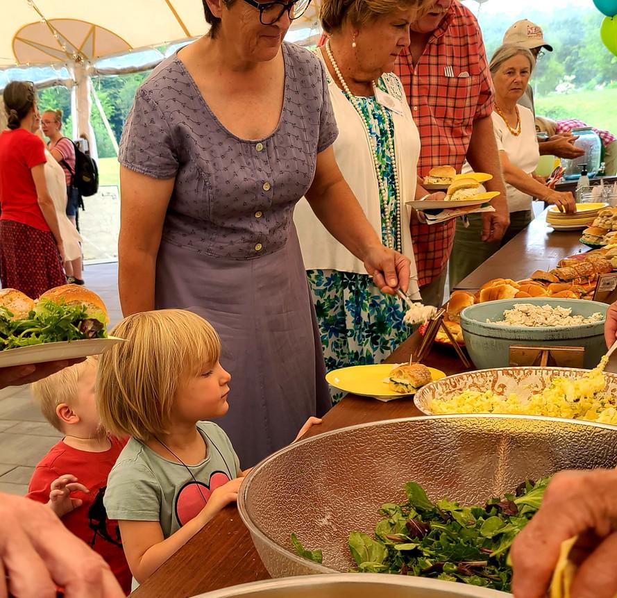 100th Birthday Annual Meeting 08182021 Evelyn/Roscoe, Amy Berrier, Nancy (Wiggin) Keyes.jpg