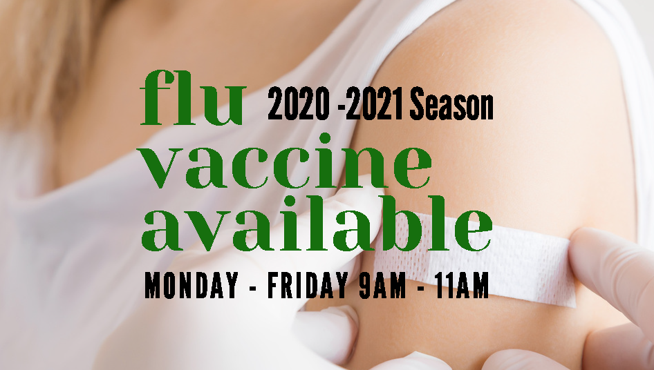 Flu Vaccine Available 2020 to 2021 Seaso