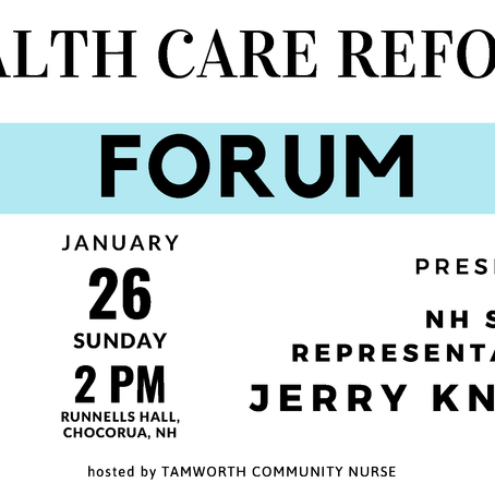 Forum - Health Care Reform