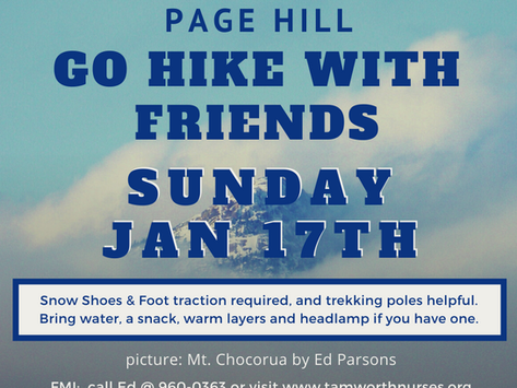 GO HIKE WITH FRIENDS 01/17/2021