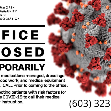 TCNA – Office Closed – Temporarily