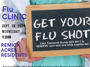 Flu Clinic Remick Acres 9/30/20