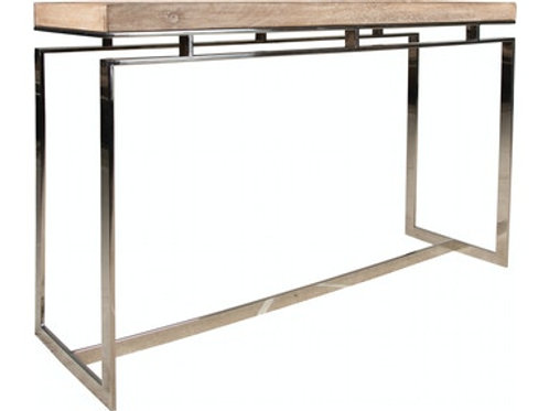 Wood/Chrome Sofa Table