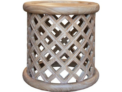 Round Lattice Side Table