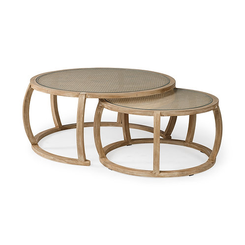 Cane Nesting Coffee Table