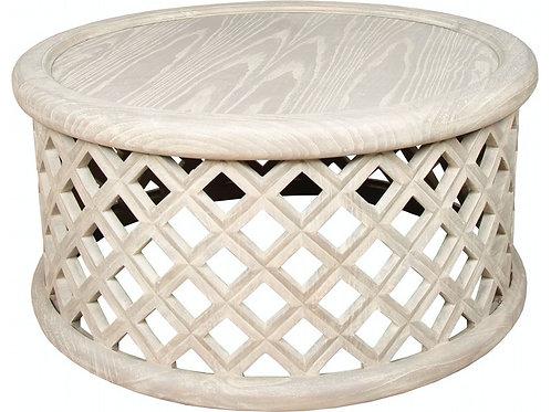 Round Lattice Coffee Table